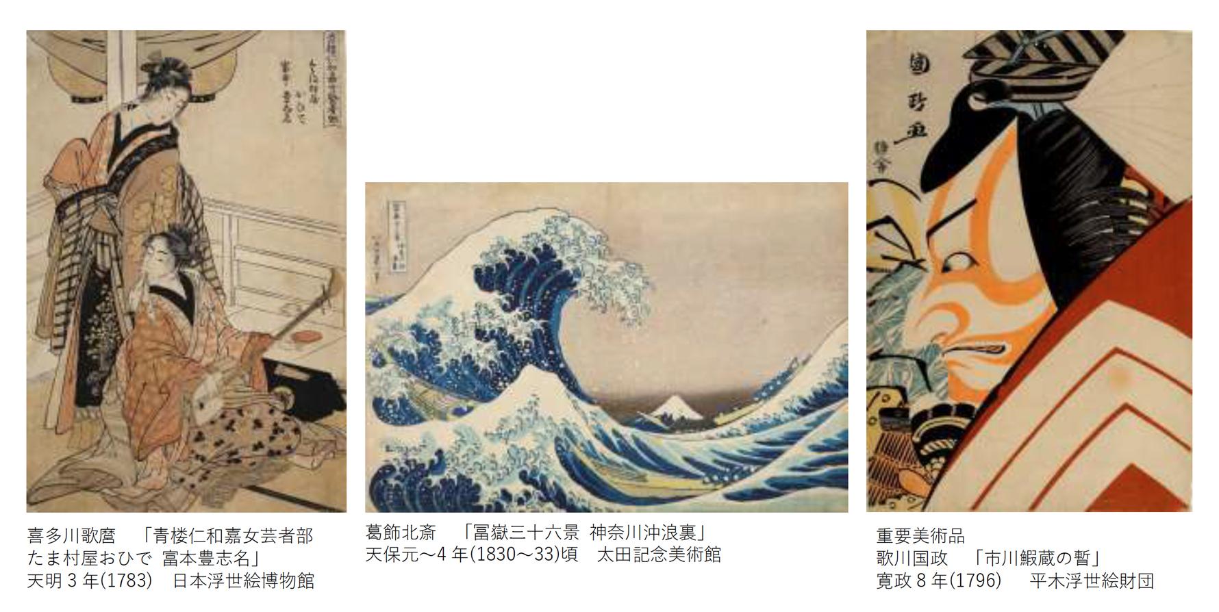 日本三大浮世絵