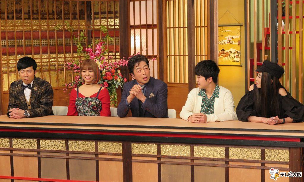 二代目和風総本家(左から)東貴博、杉山弥紀佳、中村雅俊、鈴木福、萬田久子